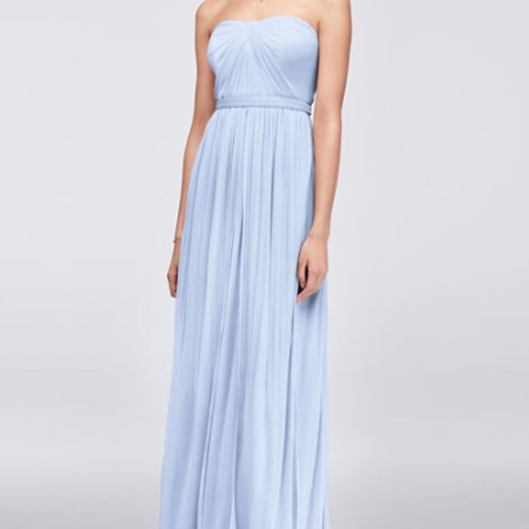 David\'s Bridal Dresses | Ice Blue Bridesmaid Dress | Poshmark